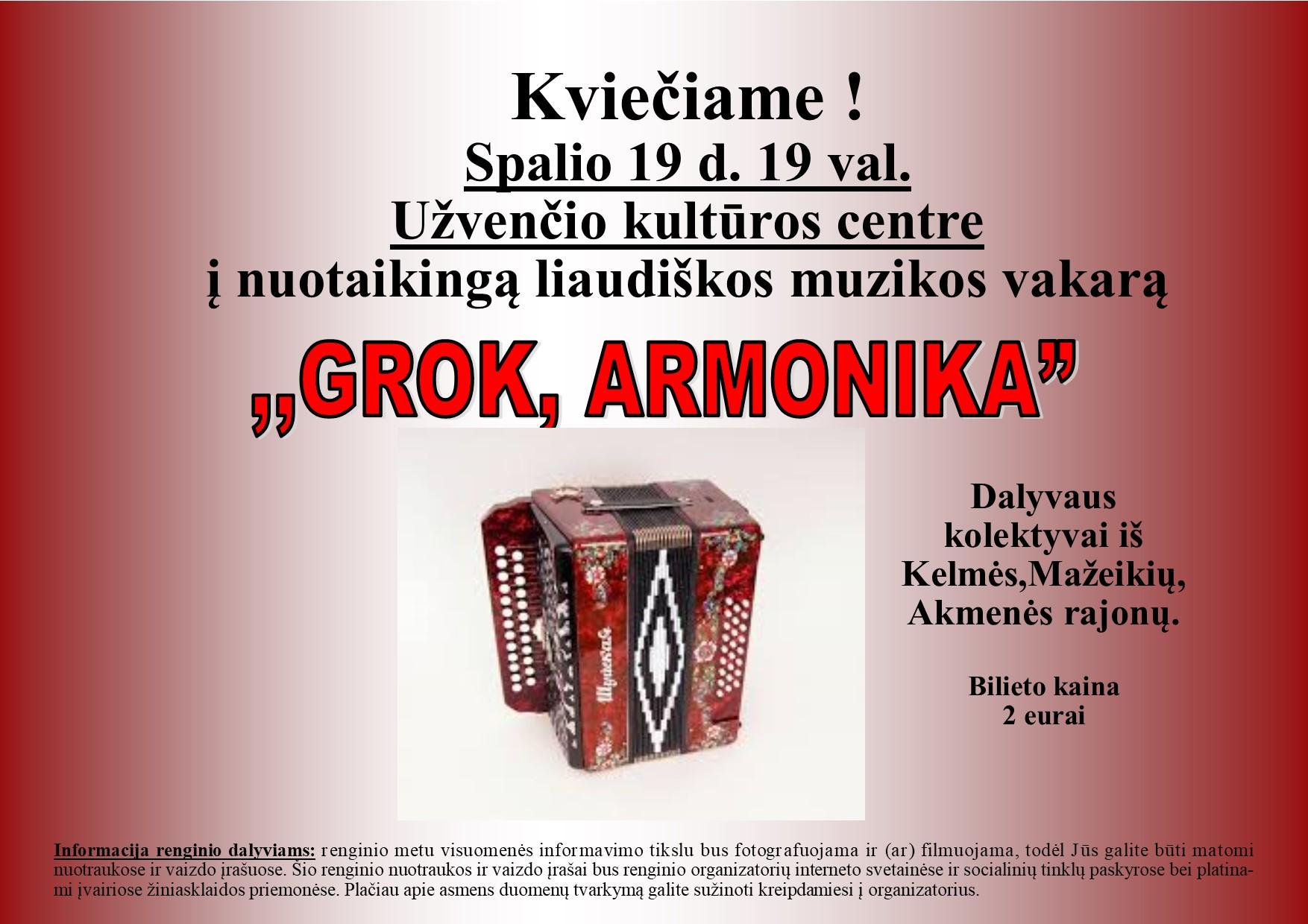 Grok, Armonika
