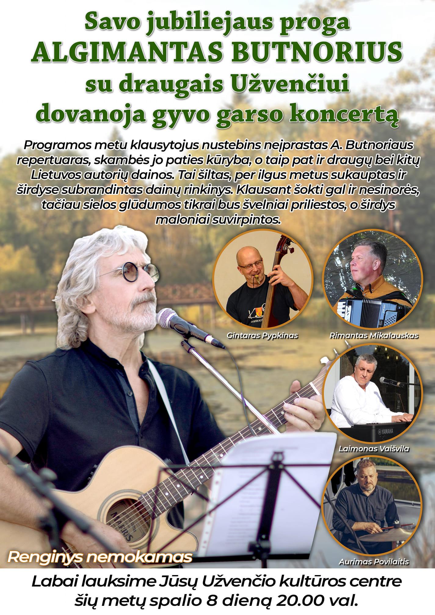 Algimanto Butnoriaus koncertas